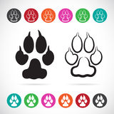 Vector image of paw print Royalty Free Stock Photo