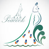 Vector image of an peacock Royalty Free Stock Photos