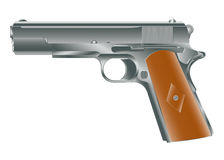 Vector image of personal pistol. Hand gun Stock Photography