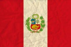 Peru paper flag Royalty Free Stock Image