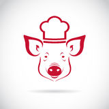 Vector image of an Pig chef Stock Image