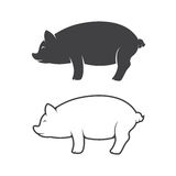 Vector image of an pig design Royalty Free Stock Photo