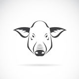 Vector image of an pig head. On white background royalty free illustration