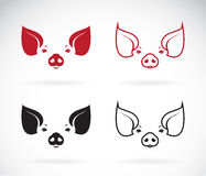 Vector image of an pig head Stock Photography