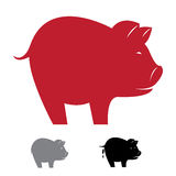 Vector image of an pig Stock Images