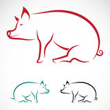 Vector image of an pig Royalty Free Stock Image