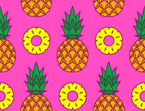Vector Image Of Pineapples And Its Slices Royalty Free Stock Photography