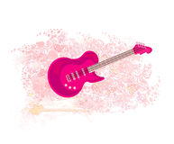 Pink guitar - abstract background Stock Image