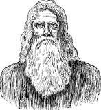 Old man of 19th century Stock Photography