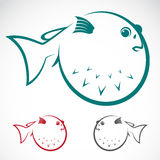Vector image of an puffer Royalty Free Stock Photography