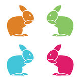 Vector image of an rabbit Royalty Free Stock Photography