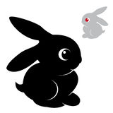 Vector image of an rabbit Stock Photos