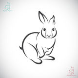 Vector image of an rabbit Stock Images