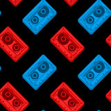 Vector Image Of Red And Blue Cassettes Stock Images
