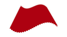 Vector image of a red velvetovoy fabric on white background. Royalty Free Stock Photography