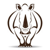 Vector image of an rhino Stock Image