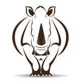 Vector image of an rhino