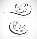 Vector image of an rhino design. On white background Stock Image