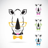 Vector image of a rhino glasses Stock Photos