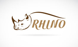 Vector image of rhino head and text Stock Images