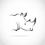 Vector image of rhino head Stock Photography