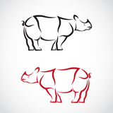 Vector image of a rhinoceros design Royalty Free Stock Photo