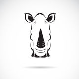 Vector image of an rhinoceros head. On white background Stock Images
