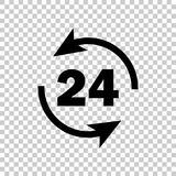 Vector image round the clock. 24 hours Stock Photos