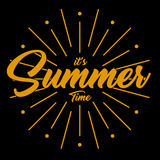 Vector image it`s summer time. With background black Royalty Free Stock Photo
