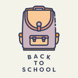 Vector image of school bag with text back to school Stock Photography