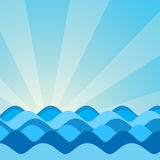 Vector image of sea waves. The vector image of sea blue waves stock illustration