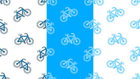 Vector image of seamless bicycles on white background Stock Image
