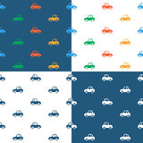 Vector image of seamless car pattern Stock Image