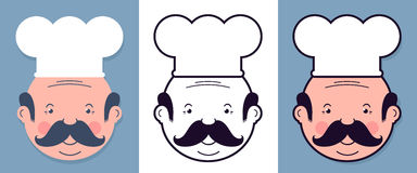 Vector image of seamless chefs with mustaches Stock Photography