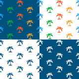 Vector image of seamless palm tree pattern Stock Photos