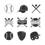 Vector image set of baseball logo. royalty free illustration