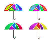 Vector image. Set of colored abstract umbrella. Stock Photo