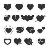 Vector image set of hearts icons. Vector image of set of hearts icons Stock Images