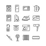 Vector image set of household appliances icons line. Vector image of set of household appliances icons line Stock Photography