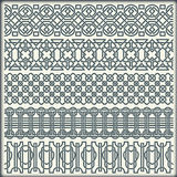 The vector image of set of seamless vintage borders in the form of celtic ornament Stock Photo