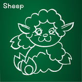 Vector image of a sheep Stock Image