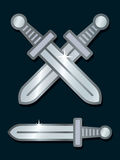 Vector Image Of Shiny Silver Swords Royalty Free Stock Photo