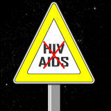 Vector image sign hiv aids. For your background Royalty Free Stock Photo