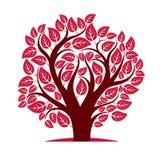 Vector image of single branchy tree, nature concept. Art symboli Royalty Free Stock Photo
