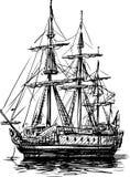 Ancient sailboat Stock Images