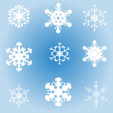 Vector image of snowflakes. Stock Photos
