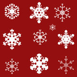 Vector image of snowflakes. Stock Photo