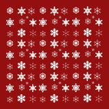 Vector image of snowflakes. Royalty Free Stock Photography