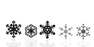 Vector image of snowflakes. Stock Images