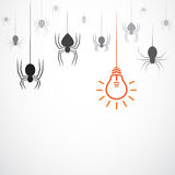 Vector image of an spider and lamp Stock Photo